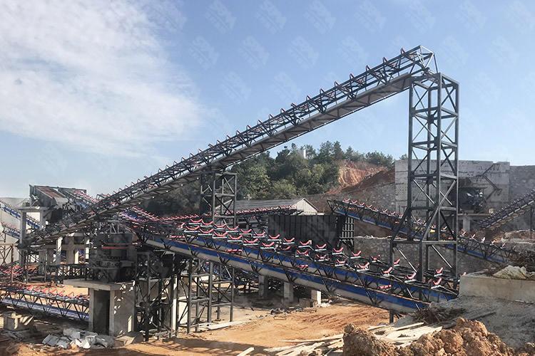 湖南时产800-1000吨石灰石破碎生产线