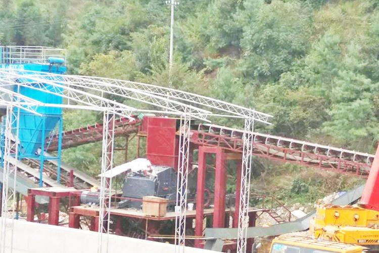 贵州时产500-600吨石灰石破碎制砂生产线