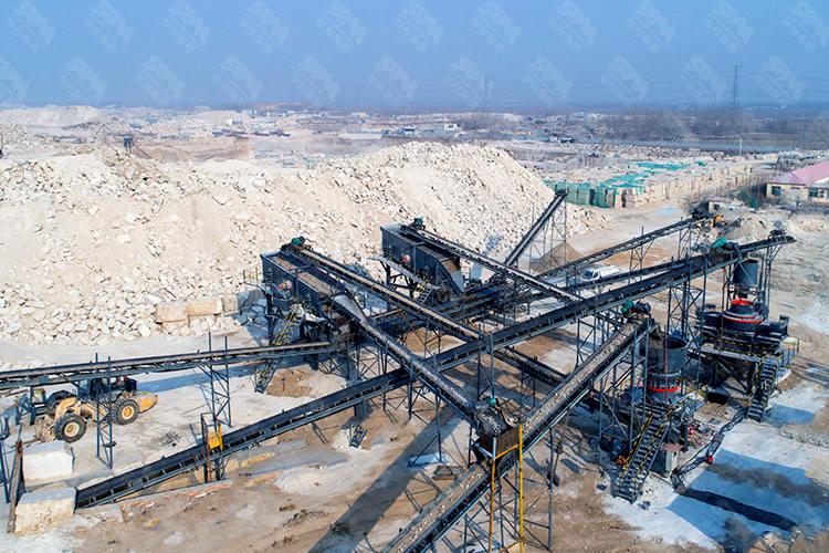 山东时产250吨花岗岩破碎生产线