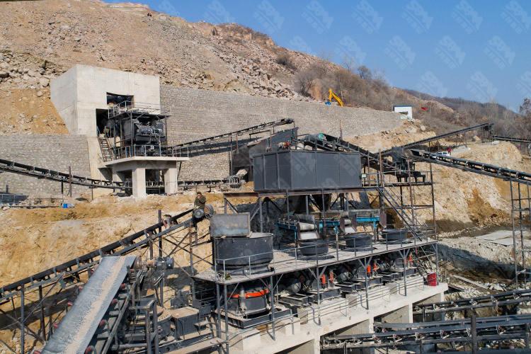 山东时产600-700吨花岗岩破碎生产线