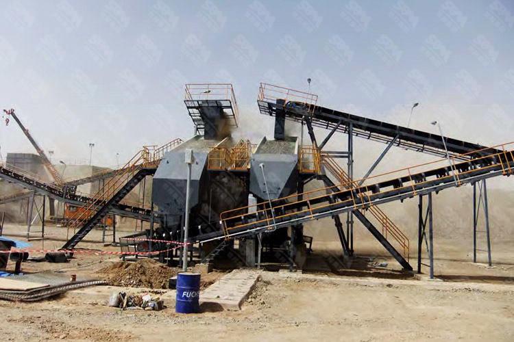 中东时产360吨金矿破碎生产线